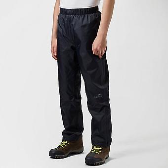 New Peter Storm Kids Unisex Waterproof Over Trousers Black