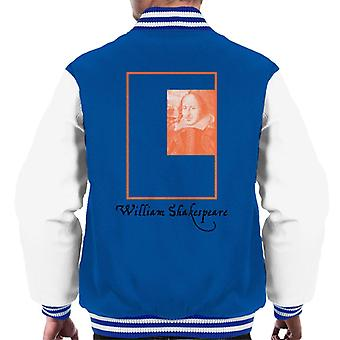 A.P.O.H William Shakespeare Box Portrait Men's Varsity Jacket