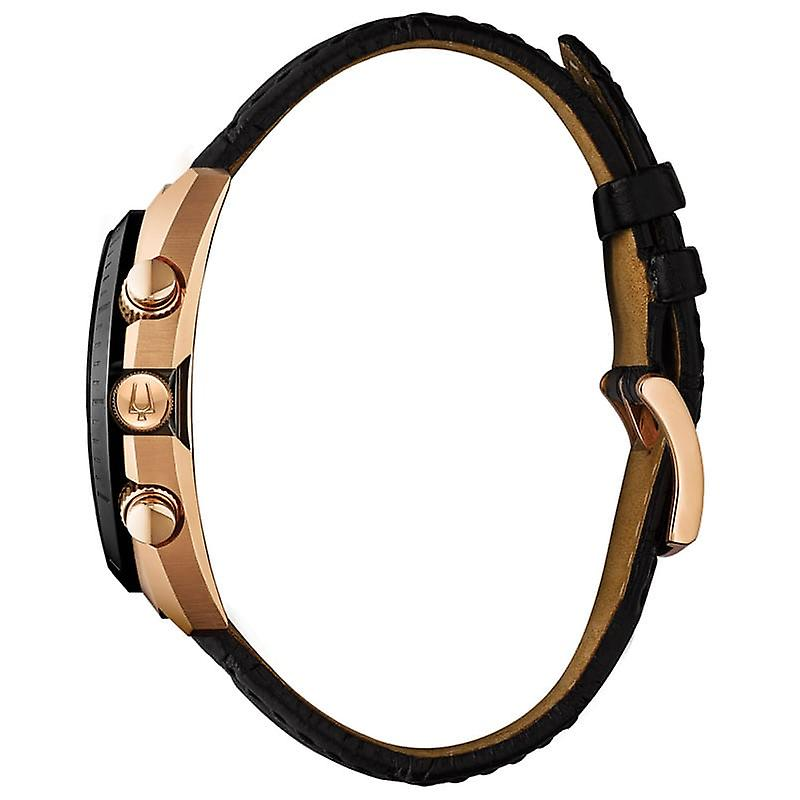 Bulova Curv Grey Rose Gold Men's Chronograph Watch 98A156