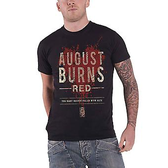 August Burns Red T Shirt Hearts Filled band logo new Official Mens Black