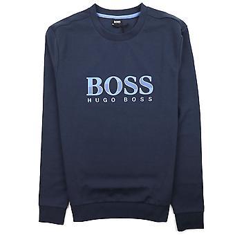 Hugo Boss Regular Fit Loungewear Sweatshirt Blau