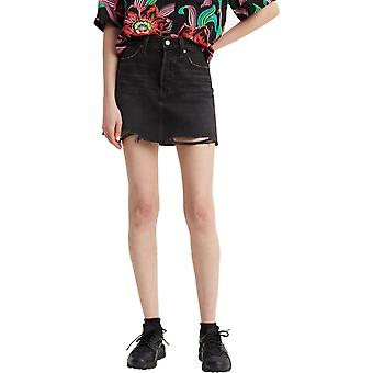 Levi's Deconstructed Denim Mini Skirt Ill Fated Black 77