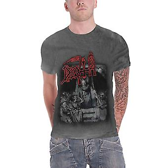 Death T Shirt Scream Bloody Gore Band Logo new Official Mens Vintage Wash
