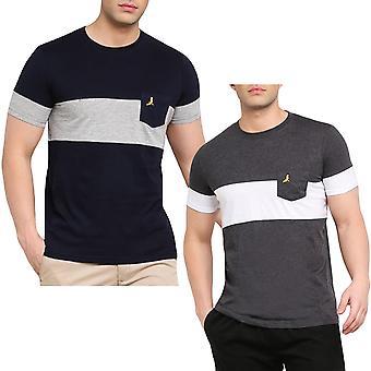 Tapfere Seele Herren fromme Colourblock Kurzarm Rundhals Baumwolle T-Shirt T-Shirt Top