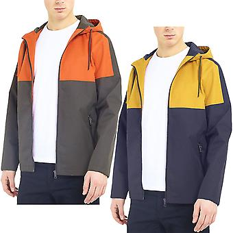 Brave Soul Mens Tyson Long Sleeve Full Zip Casual Colourblock Windbreaker Jacket