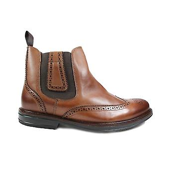Anatomic Jonas Tan Leather Mens Pull On Brogue Chelsea Boots