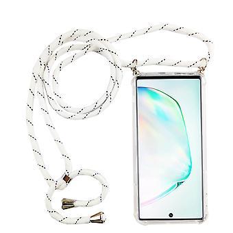Catena di telefoni per Samsung Galaxy Note 10 Plus - Custodia collana smartphone con banda - cord con custodia per appendere in bianco