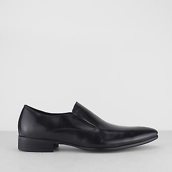 Blakeseys Talbot Mens Leather Formal Pointed Slip On Shoes Black