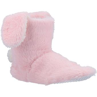 Divaz Womens Flopsy Bunny Fluffy Knitted Bootie Slippers