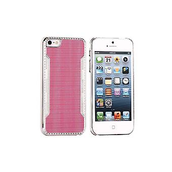 Plastic Shell Rose Silver Contour For IPhone 5