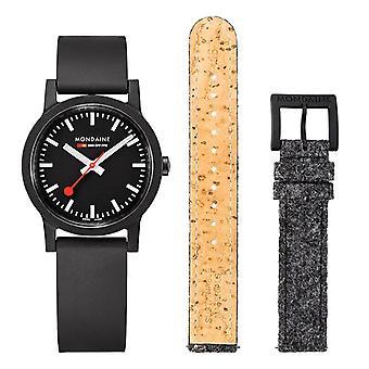 Mondaine Official Swiss Railways Essence Quartz Men's Watch Set MS1.32120.RB.SET