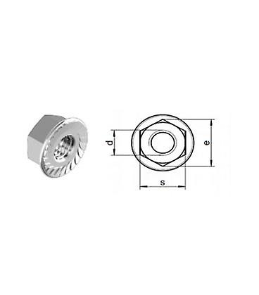M6 - A4 (t316) Stainless Steel Serrated Flange Nut - Din 6923