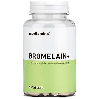 Bromelain+ (90 Tablets) - Myvitamins
