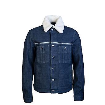 Emporio Armani Denim Jacket Shearling Collar 3g1bl8 1dhaz
