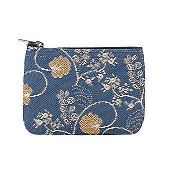 Jane Austen bleu zip porte monnaie par signare tapisserie/zipc-Aust