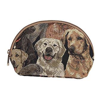 Labrador women's cosmetic bag by signare tapestry / cosm-lab