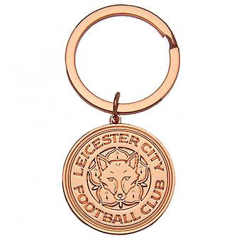 Leicester City FC Rose Gold Plated Keyring