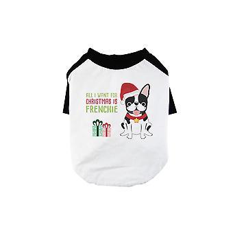 Weihnachten Frenchie Geschenk lustige BKWT Haustiere Baseball Shirt X-mas Geschenk