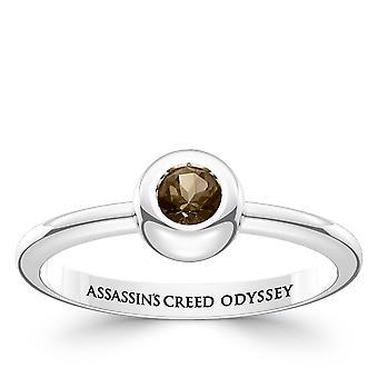 Vermoord 'apos; s Creed Odyssey Quartz stenen ring in Sterling Zilver ontwerp door BIXLER