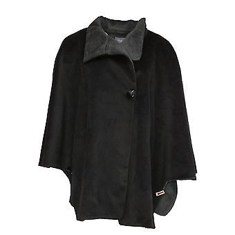 Martha Stewart kvinner ' s Button front Cape frakk med lommer svart A342407