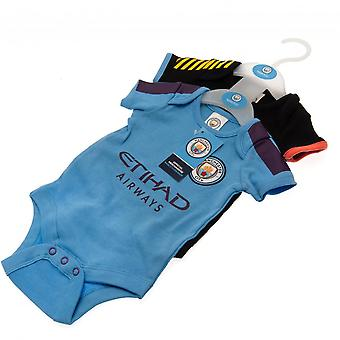 Manchester City FC Baby Unisex Bodysuit (Pack Of 2)