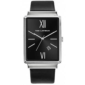 Ted Lapidus 5132201 - watch leather black Bo tier steel man