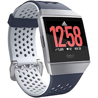 Fitbit Ionic Health & Fitness Smartwatch (GPS) with Heart Rate, Swim Tracking & Music - Adidas Edition (Ink Blue/Ice Grey)