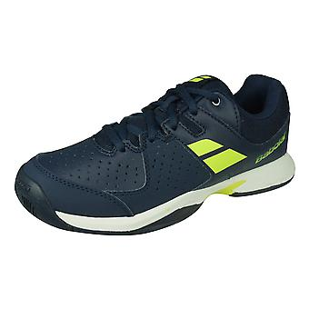 Babolat Pulsion All Court Junior Kids Tennis Trainers / Shoes - Blue and Yellow