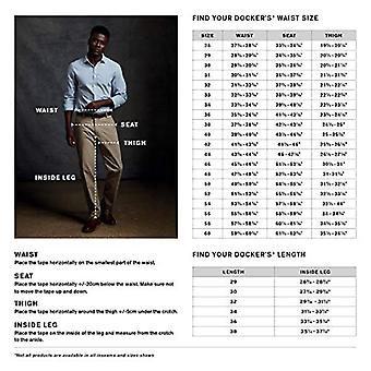 Dockers Men's Relaxed Fit Stretch Signature Khaki Pants - Pleated D4, Black (...