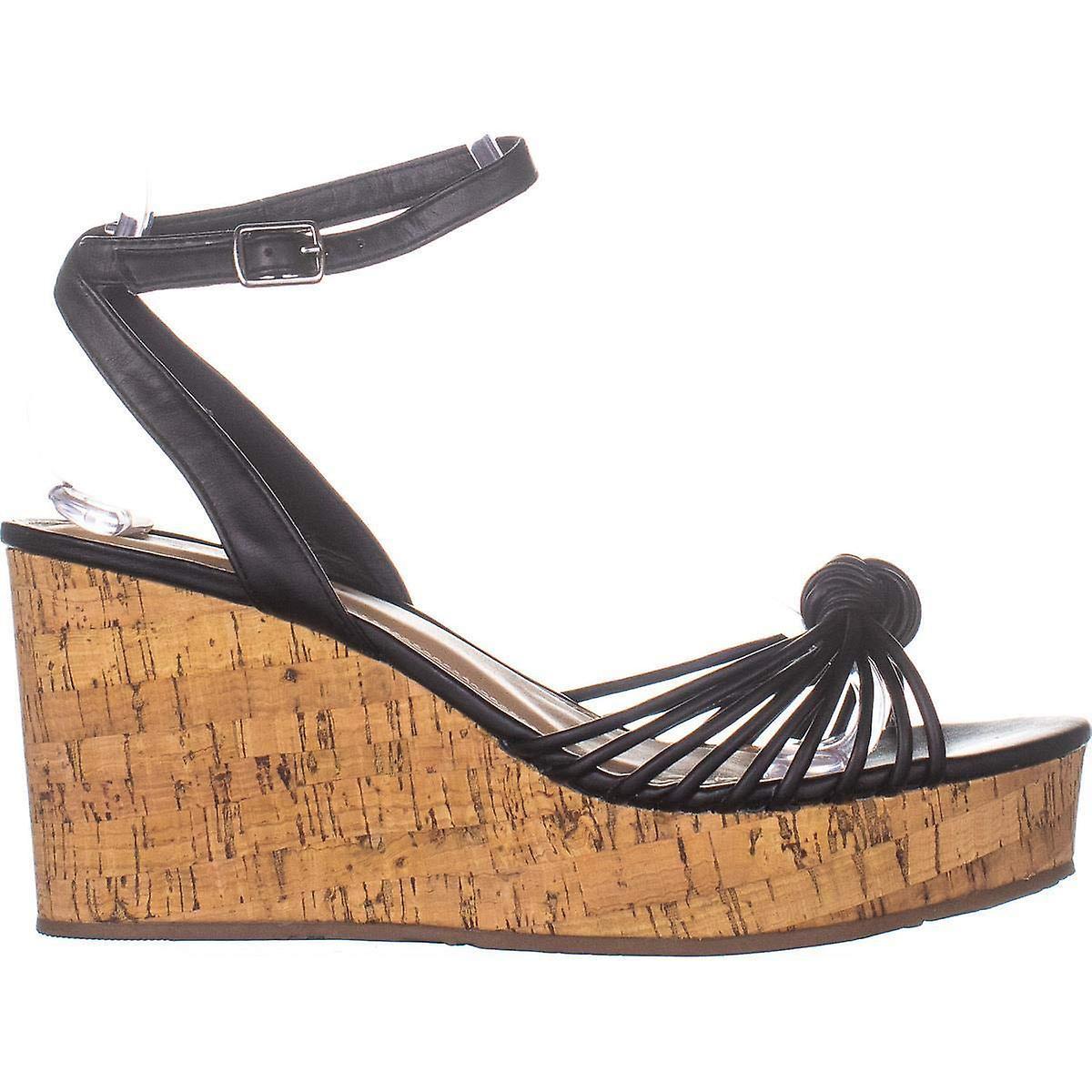 ESPRIT Womens E19VIV01 Leather åpen tå casual slingback sandaler