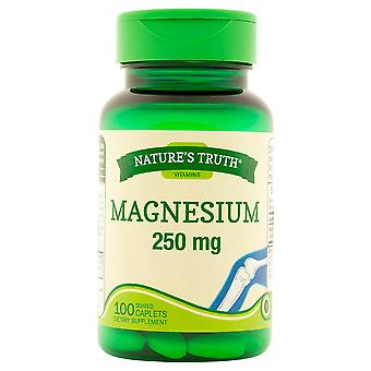 Nature's truth magnesium, 250 mg, coated caplets, 100 ea