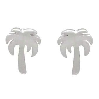 Gemshine örhängen Tropiska palm stud örhängen i 925 silver, guldpläterade eller ros