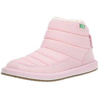 Kids Sanuk Girls Lil Puffer Ankle Pull On Snow Boots