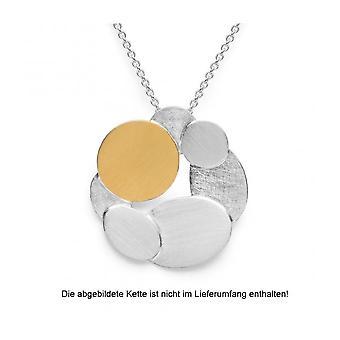 Bastian Inverun Damen 925/- Anhänger teilvergoldet mattiert/kratzmatt 26230