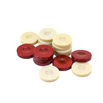 Galalith Luxury Backgammon Stones Red & Ivory 36mm