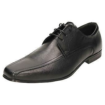 Red Tape Leather Formal Lace Up Wedding Shoes Black