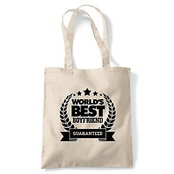 World-apos;s Best Boyfriend, Tote - Reusable Shopping Canvas Bag Cadeau