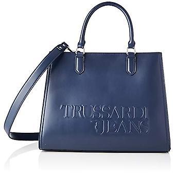 Trussardi Jeans T Tote LG Plain Ecoleathe Blue Women's Bag (Navy Blue) 17x29x38 cm (W x H x L)