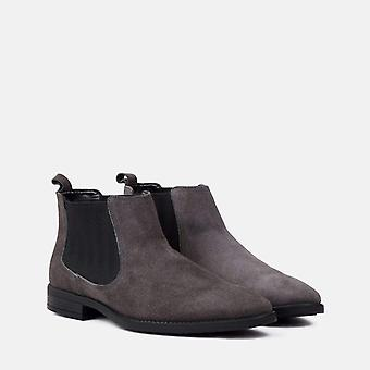 Doyle grey suede chelsea boot