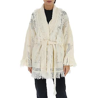Alanui Lwhb001r200040370101 Women's White Wool Cardigan