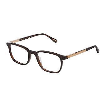 Dunhill VDH148 01AY Shiny Dark Havana Glasses