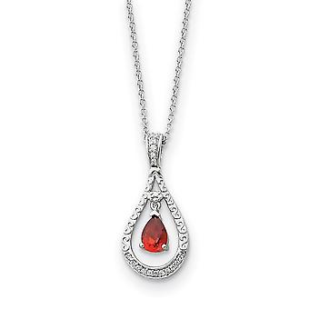 925 Sterling Silver Polished Spring Ring Janeiro CZ Cubic Zirconia Simulado Colar de Diamante 18 Polegadas Joias Presentes para