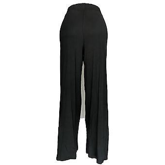 أي شخص المرأة & s السراويل طويل القامة دافئ متماسكة واسعة الساق السراويل السوداء A347174
