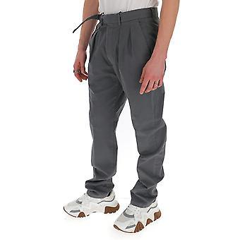 Lardini Eiluxor5ei54087950 Men's Grey Cotton Pants