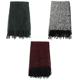 Foxbury Womens/Ladies Frilly Winter Scarf With Tassels