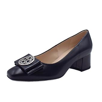 Peter Kaiser Patty Mid Heel Wide Fit Court Shoes In Navy