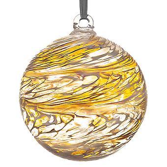 Sienna Glass 10cm Friendship Ball, 50th Wedding Anniversary Golden