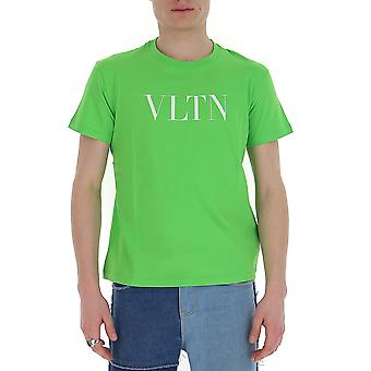 Valentino Tv0mg10v3le23h Men's Green Cotton T-shirt