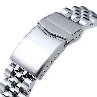 Strapcode watch bracelet 20mm angus jubilee 316l stainless steel for seiko mm300 prospex marinemaster sbdx001, brushed/polished, v-clasp