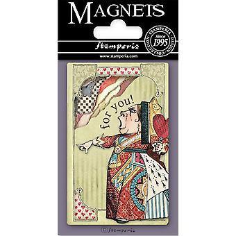 Stamperia Alice Queen of Hearts 8x5.5cm Magnet